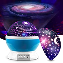 MOKOQI Baby Night Light Lamps For bedroom Romantic 360 Degree Rotating Star with Sky Moon Cover & Solar System Cover Proje...