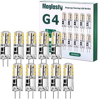 G4 LED Ampoule 1.5W 12V, 10 PACKS 180LM AC/DC Ampoules 9mm x 36mm, Equivalent 20W Halogène Lampe Blanc Chaud 3000K Non Dim...