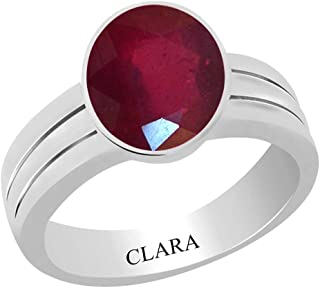 Certified Ruby (Manik) 3cts or 3.25ratti Stunning Silver Ring