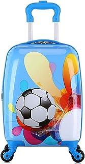 YCYHMYF Children's Gift Children Suitcase Cartoon Cute Trolley case Blue