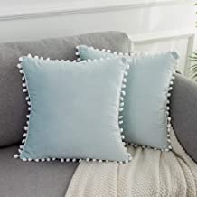 2 Squishy Pillows Light Blue Silver Mini Pillows Baby's Bed Pillows Home Decor