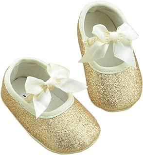 Baby Girl Soft Leather Bowknot Bling Bling Shoes Prewalker Socks Crib Sneakers