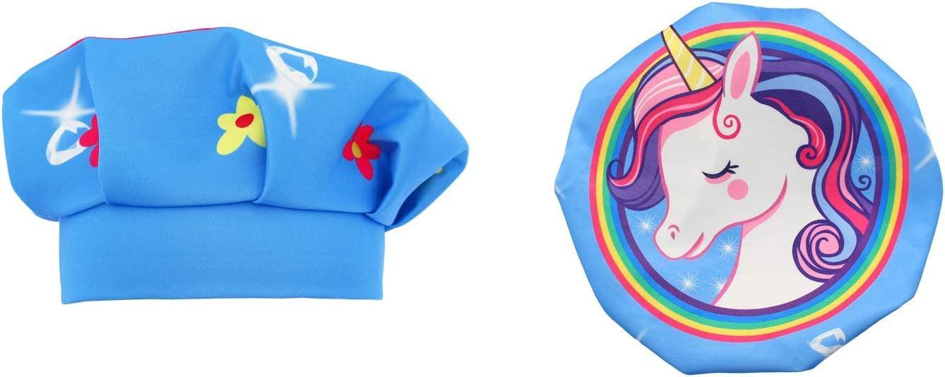 Blue Unicorn 2 Pieces Boys Girls Adjustable Unicorn Apron for Baking JESKIDS Apron for Kids with Chef Hat Set Cooking and Kitchen Traing 4-12 Years Painting