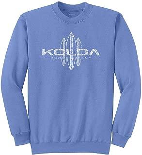 Koloa Vintage Surfboard Sweatshirts in 37 Colors in Sizes S-4XL