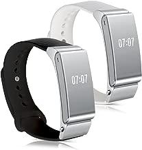 kwmobile 2'si 1arada set: Bileklik Huawei Talkband B2–2x Silikon spor için yedek kordon ile kilit Fitness izleyici–İç ölçüler: yakl. 14–18cm