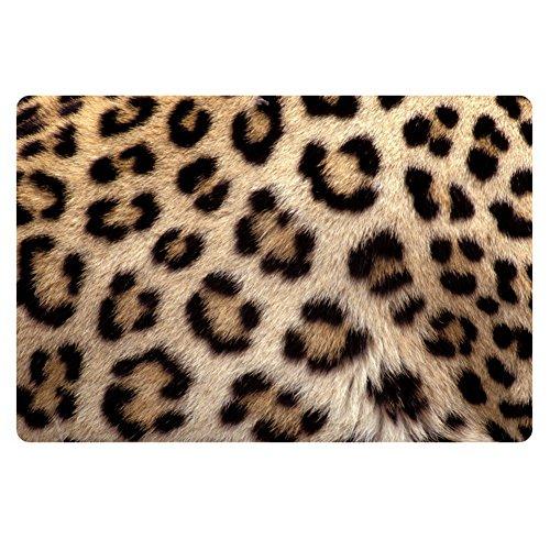 Coloranimal Vintage 3D Leopardo Felpudo Entrada Alfombra de Bienvenida al Aire Libre Alfombra