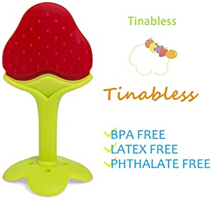 Teething Toys (5 Pack) - Tinabless Infant Teething Keys Set, BPA-Free, Natural Organic Freezer Safe for Infants and T...