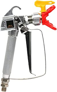 YaeTek Airless Paint Spray Gun with Tip and Tip Guard High Pressure 3600 PSI 517 TIP