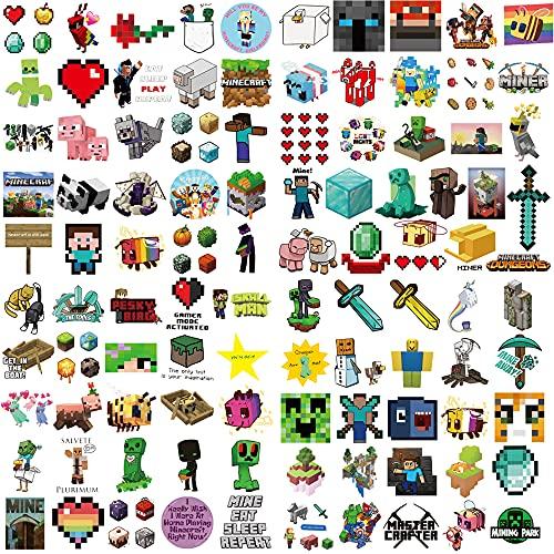 O-Kinee Minecraft Pegatinas, 200PCS Vinyl Stickers, Decoracion Habitacion Adolescente para Portátil Graffiti...