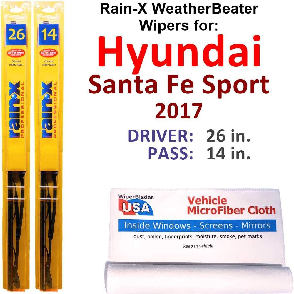 Rain-X WeatherBeater Wiper Blades for Department store New products world's highest quality popular Spor Santa 2017 Fe Hyundai