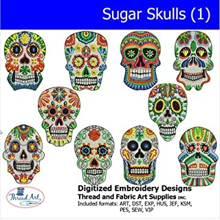 Threadart Machine Embroidery Designs -Sugar Skull(1) - USB Stick