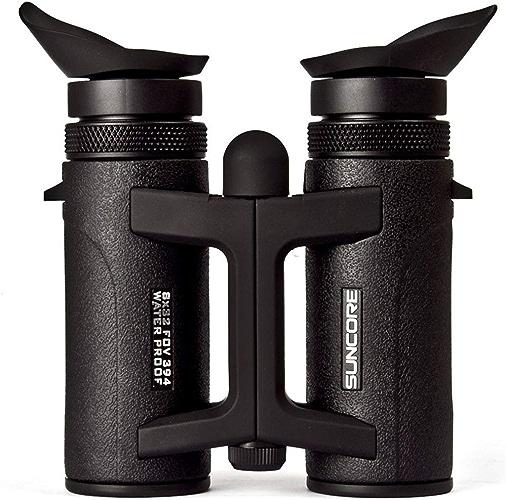 HOUYAZHAN Jumelles compactes d'observation des Oiseaux de télescope Compact, télescope Anti-buée imperméable pour Le Tourisme de Plein air voyageant Le Jeu de Chasse (Couleur   noir, Taille   8X32)