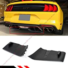 Fits for 2018-2019 Ford Mustang GT R Style Rear Bumper Diffuser Valance Aero Foil Kit