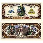 American Art Classics Pack of 25 - Legend of Zelda Limited Edition Collectible Novelty Million Dollar Bill - Best Gift for Zelda Fans Link, Twilight Princess