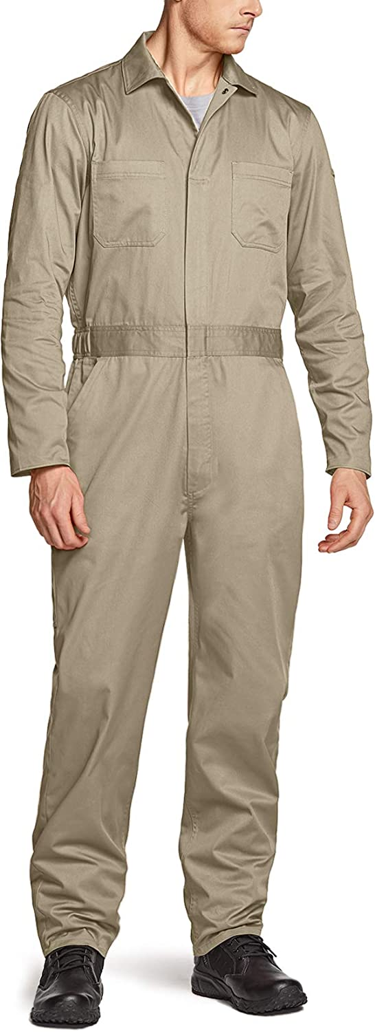 CQR Men's Department store Long Sleeve OFFicial site Zip-Front Wrinkle Twill Stain Coverall