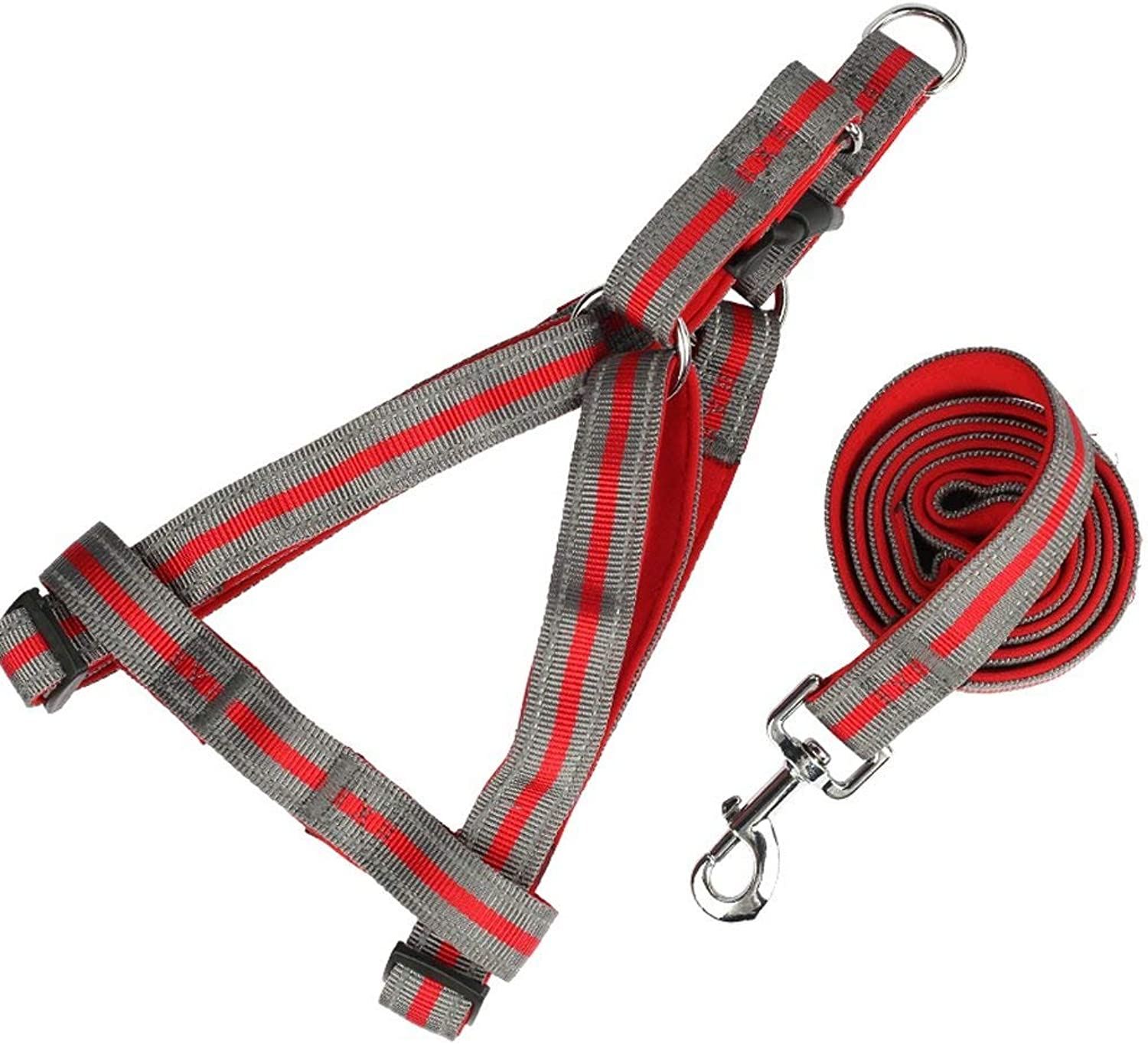 Pet Leash, Belt Harness, Dog Leash, Dog Leash, Small, Large Dog, Pet Supplies, Multicolor Optional (color   RED, Size   S)
