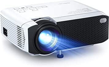 """Mini Projector, APEMAN 4500L Brightness Projector, Support 1080P 180"""" Display, Portable Movie Projector, 45,000Hrs LED Lif..."""