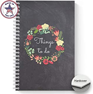 Hardcover Floral Wreath Things to Do 5.5