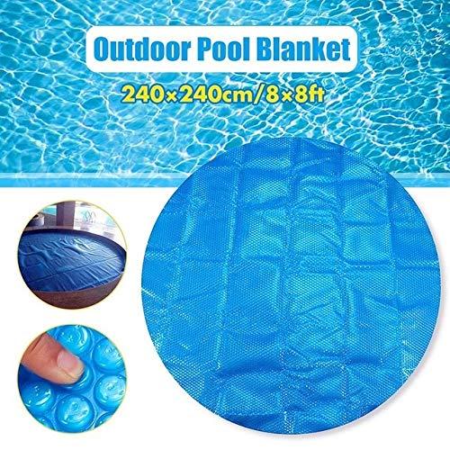 JIUYUE Couverture Piscine Cover 1.8 * 1.8m / 2.1x2.1m / 2.4x2.4m Bain Solaire Couverture extérieure Bubble Blanket Piscine Accessoires Piscine (Color : Round 240x240cm)