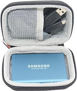 SANVSEN ハードケース Samsung T3 T5 ポータブル 250GB 500GB 1TB 2TB SSD USB 3.0 外付けソリッドステートドライブストレージ トラベルキャリーバッグ