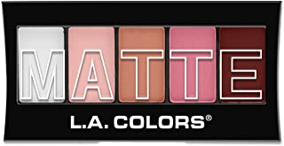 L.A. Colors 5 Color Matte Eyeshadow, Pink Chiffon, 0.08 Ounce