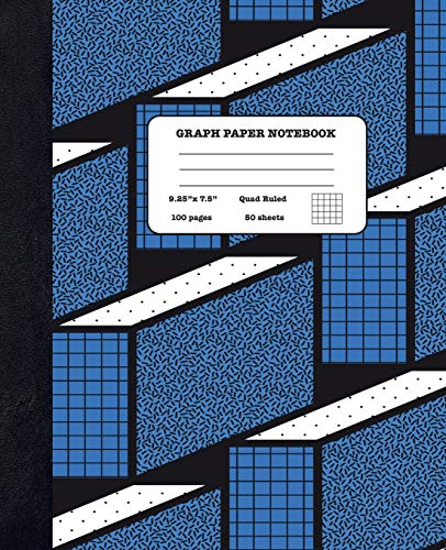 Graph Paper Notebook Quad Ruled 5x5: Maths and Economics - Composition Notebook for Girls Boys Students - cute Notebook for College School - Geometric Shapes Design