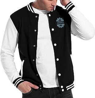 X-JUSEN Mens Grand Island Nebraska Baseball Uniform Jacket, Bomber Jacket, Sport Wear, Lightweight Outerwear