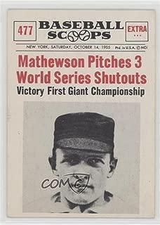 Christy Mathewson (Baseball Card) 1961 Nu-Cards Baseball Scoops - [Base] #477