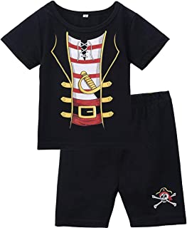 COSLAND Baby Boys' Pirate Halloween Costume Shorts Sets
