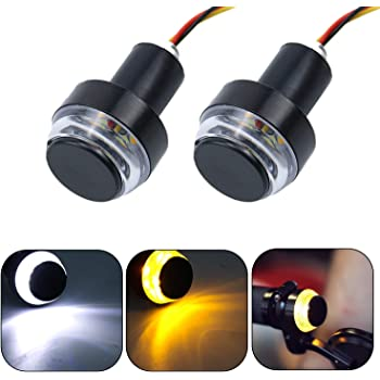 Motorcycle Handlebar End Led Turn Signals With Brake and Running Light Option