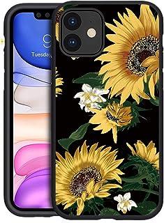 """KAPUCTW Case for Xiaomi Poco F2 Pro, Black Silicone Matt Back Cover with Floral Design - Xiaomi Poco F2 Pro [6.67""""] Slim T..."""
