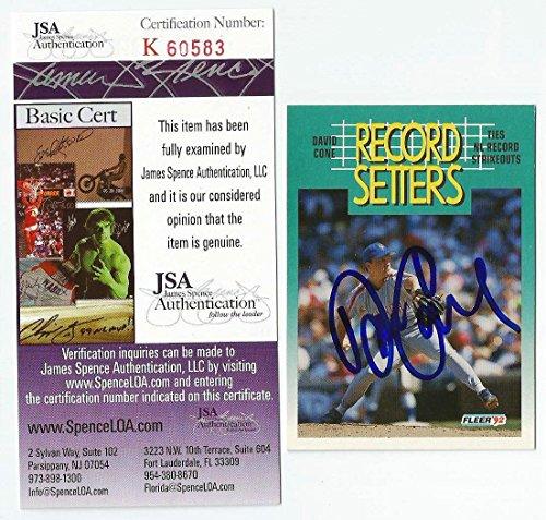 DAVID CONE Signed 1992 Fleer Card JSA COA Mets Yankees Autographed
