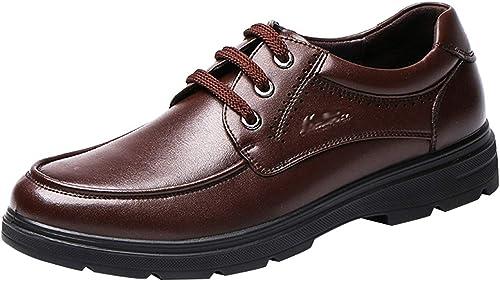 Hhoro Calzado rojoondo para Hombre Derby Derby Calzado de Vestir zapatos de Vestir de Negocios (Color   marrón, tamaño   42EU)