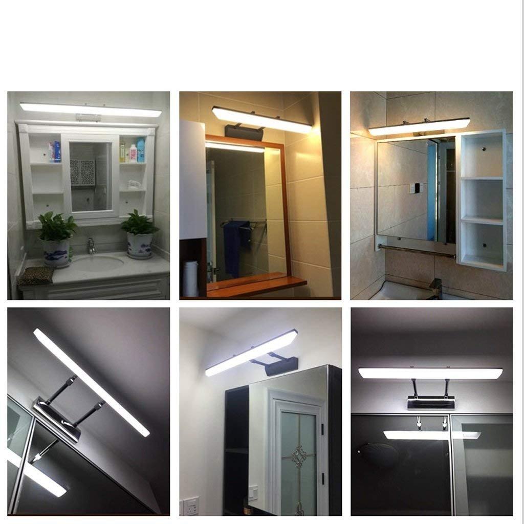 Espejo escamoteable armario con espejo, luz delantera LED Lámpara de pared resistente al agua de baño anti-espejo del baño luces antiniebla (Color : Plata-15W-luz cálida): Amazon.es: Iluminación