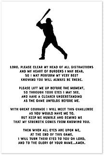 Baseball Prayer Christian Athlete Poster