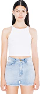 Women Cotton Spandex Sleeveless Crop Top