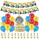 32PCS Artículos de Fiesta para Princesa, Princesa niña Globos, Blancanieves Cumpleaños Fiesta Decoracion Temática, Estandarte de cumpleaños, Princesa Inspired Cupcake Toppers