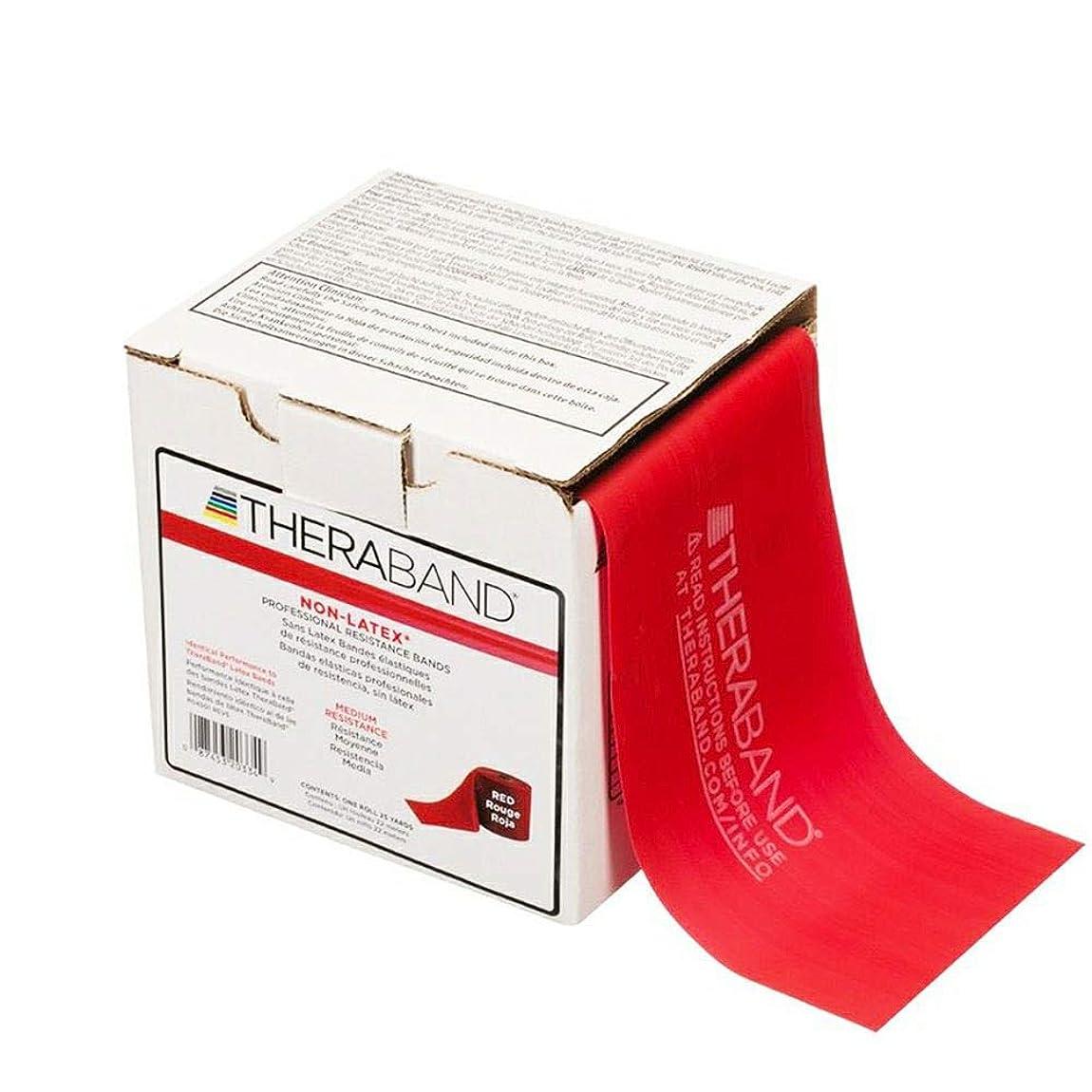 ペネロペ侵入比べるTHERABAND セラバンド ノンラテックスバンド 赤 レッド 長さ22.86m