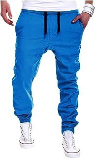 Landove Pantaloni Cavallo Basso Ragazzo Cargo Pants Uomo Streetwear