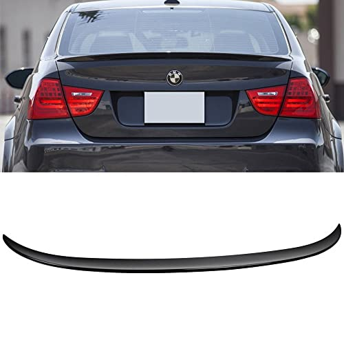 OE Style ABS Rear Deck Lip Wing Bodykits by IKON MOTORSPORTS Trunk Spoiler Fits 2006-2011 BMW 3-Series E90 4Dr Sedan