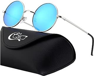 E01 Estilo Vintage Retro Lennon inspirado círculo metálico redondo gafas de sol polarizadas para hombres y mujeres