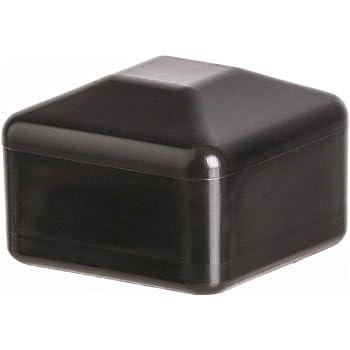 Bouchon pour tuyau carr/é 50x50 anthracite plastique Embout bouchons dobturation 10 pcs