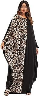 African Women Dresses Batwing Elastic Dashiki Bazin Black Leopard Print South Africa Long Maxi Dress