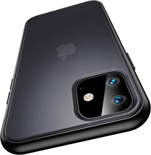 Meifigno Magic Series iPhone 11 Case [Military Grade Drop Tested], Translucent Matte PC with Soft Edges, Shockproof iPhone 11 Cover Case Compatible with Apple iPhone 11 6.1 Inch (2019), Black