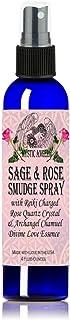 White Sage & Rose Smudge Spray (4 oz.) with Reiki Charged Rose Quartz Crystal & Archangel Chamuel Essence