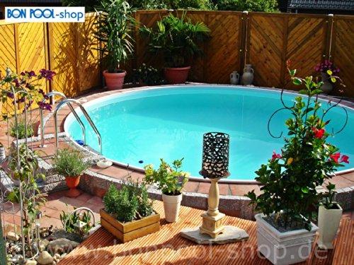 Bon Pool Rundbecken 4m Ø 1,20m Tief mit Edelstahlleiter
