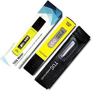 CityFarmer TDS Meter, Water Quality Tester, Accurate and Reliable, Hydroponic Nutrient Meter, Household Drinking Water, Pool, Aquarium Water, Comes with Carrying case, 0-9999ppm.