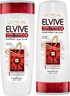 L'oreal ElviveTotal Repair 5 Shampoo 400ml + Conditioner 400ml