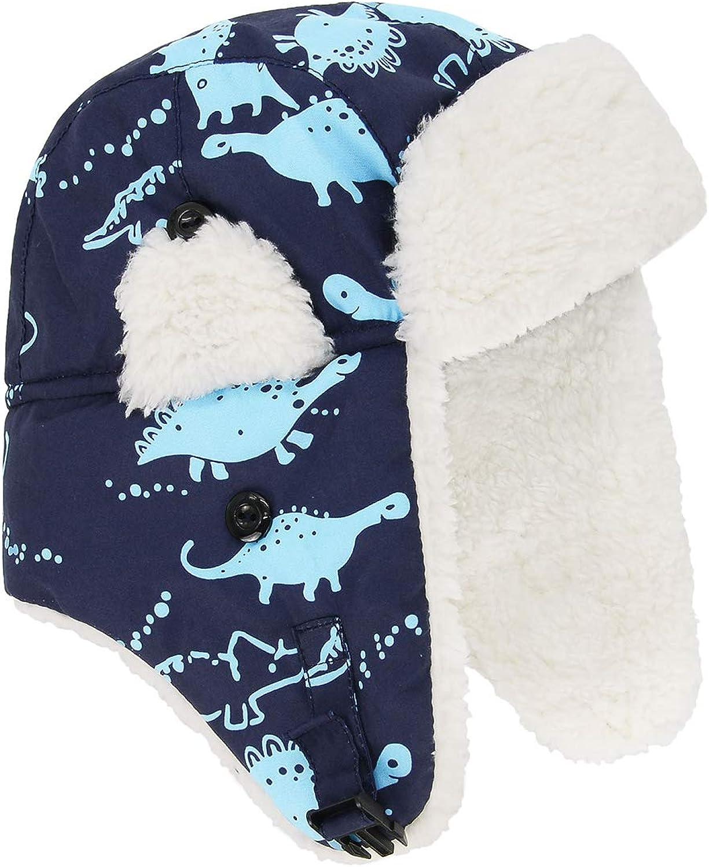 Century Star Baby Boys Sherpa Lined Warm Fleece Pilot Infant Toddler Hat Mitten Set