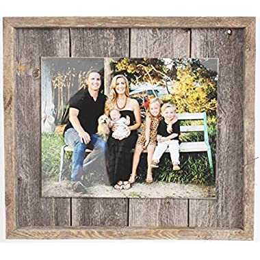 BarnwoodUSA Rustic Farmhouse Plank Picture Frame - Our 8x10 Picture Frame can be Mounted Horizontally or Vertically and is Crafted From 100% Recycled and Reclaimed Wood | No Assembly Required